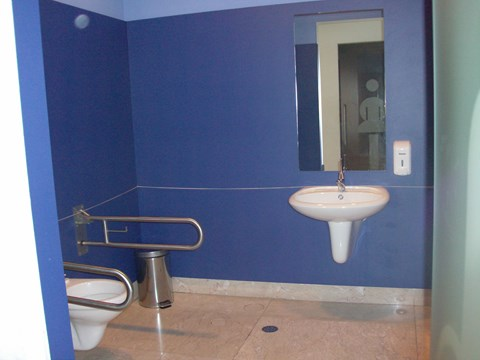 Photography of the accessible bathroom in the Citizens' Support Office of Porto City Council