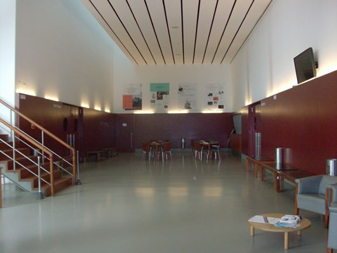 Photography of the lobby and bar in the Campo Alegre Theatre